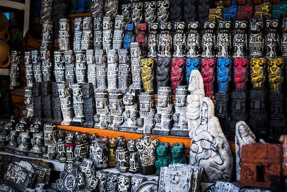 The Witches Market, or Mercado de las Brujas in La Paz, Bolivia.