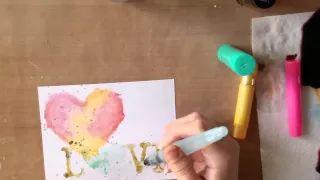 methalic watercolor - YouTube