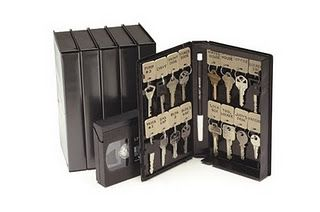 key holder made from vhs or cassette tape box. other ideas: Decorate for treasure box, pencil and school supply holder, First aid kit, Scrapbook kit, or Travel game box: