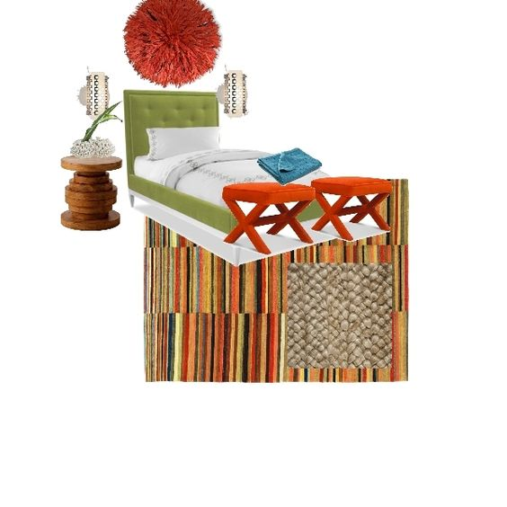 Colorful bedroom design done on Project Decor