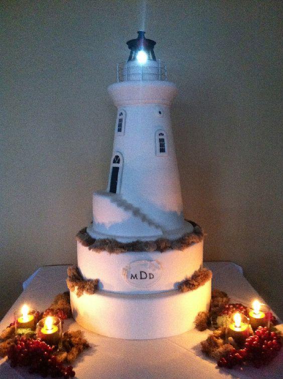 Light House Wedding Cake  www.thesweetdivine.com