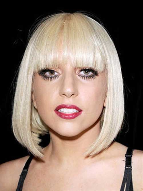 Awesome Lady Gaga Short Different Hairstyles 2017 Hair Color Platinum Blonde Hair Short Blonde Hair Real Human Hair