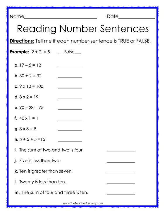 Worksheet Number Sentence Worksheets 2nd Grade math posts and free downloads on pinterest true or false number sentences worksheet