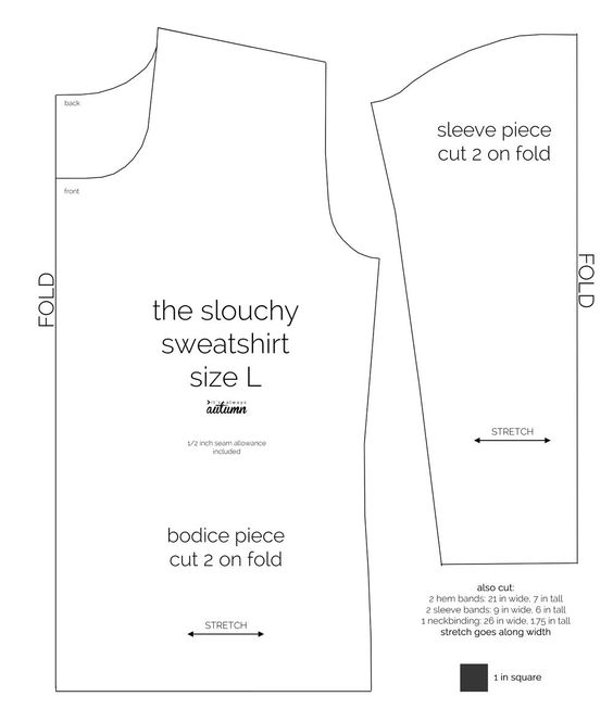 the perfect slouchy sweatshirt   Sew, Free pattern and Sewing tutorials