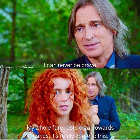 """I can never be brave"" - Rumple and Merida #OnceUponATime"