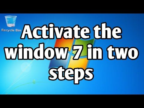 Activate Window 7 In Two Steps How To Activate Windows 7 Without Product Key Youtube In 2020 Activated Youtube Windows