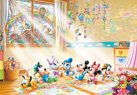 D 1000 498 Tenyo Disney Babies Gifts From The Sun Tenyo Disney Japan Jigsaw Puzzle Origin Japan Made Minnie Mouse Pictures Baby Disney Mickey And Friends