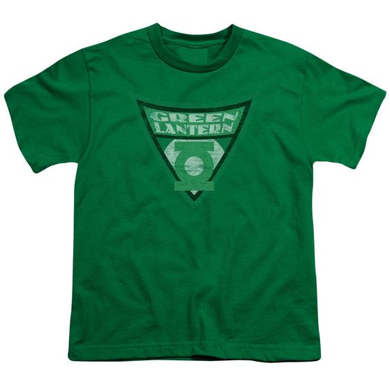 Batman Bb/ Lantern Shield Short Sleeve Youth 18/1 in Kelly