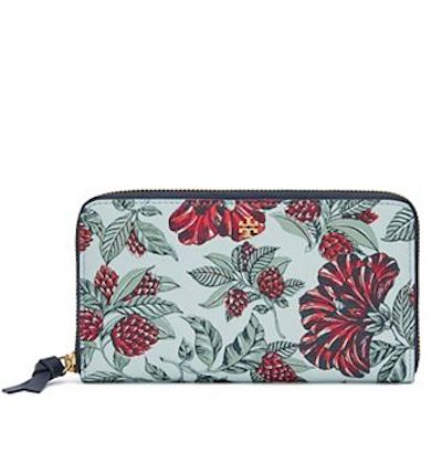 pretty floral zip wallet