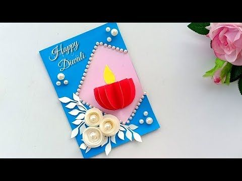 Handmade Diwali Card Diwali Card Making Idea Diwali Card Handmade Diwali Card Handmade Diwali Greeting Cards Diwali Card Making Diwali Greeting Card Making