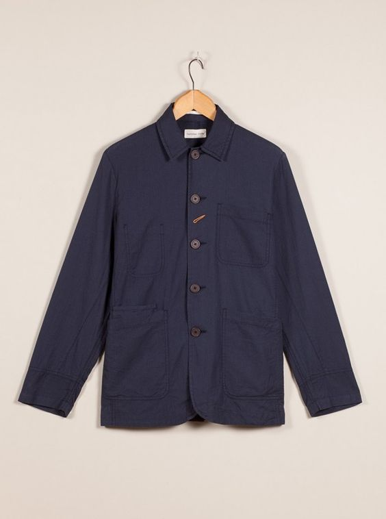 Universal Works Navy Over Dyed Bakers Jacket
