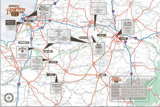 Kentucky Bourbon Trail - this sounds like an interesting and scenic trip