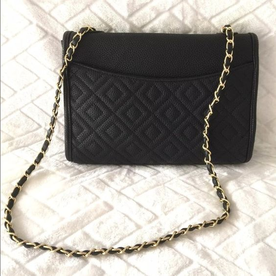 """SOLD MMS Medium Black Quilted Handbag, Brand New with Tags!   Gorgeous crossbody handbag perfect for everyday or for a night out! L 11"""" X H 8""""  Sleek and trendy chain strap 19.5"""" strap drop Brand new with tags! No trades! MMS Design Studio Bags"""