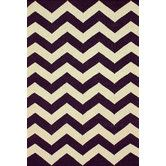 Found it at AllModern - Moderna Purple Chevron Rug