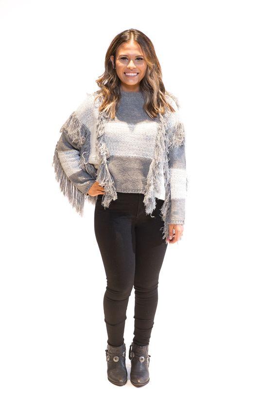 Fringe Striped Sweater