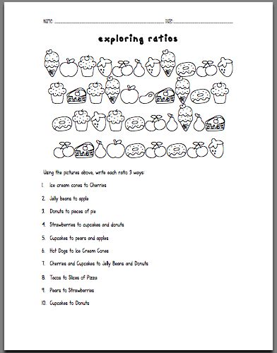 Printables Ratios 6th Grade Worksheets sweet exploring ratios worksheet activities kid and the i teach to my 6th graders always review with 7th 8th graders