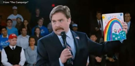 Donald Trump channels Marty Huggins from 'The Campaign'
