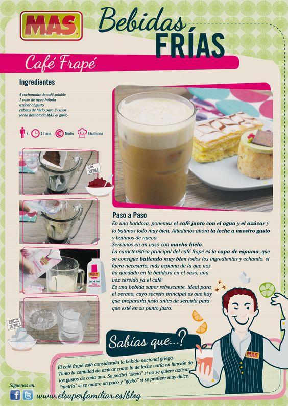 Receta café frappe
