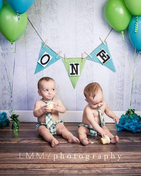 Twin boys cake smash session