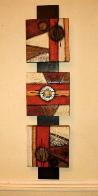Cuadros tripticos pinterest lugares manos y teclas - Cuadros verticales modernos ...