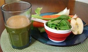 Alkaline Juicer Recipes Heaven  Apple, cucumber, celery, carrots and spinach  - 1 cup of spinach  - 1/2 cucumber  - 2 stalks of celery including leaves  - 3 carrots  - 1/2 apple    Wash all vegetables thoroughly, top the carrots, remove apple stem but don't peel apple (the peel is full of flavonoid antioxidants), enjoy.
