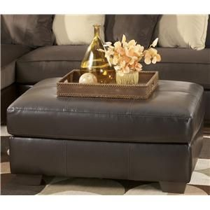 Vivanne - Chocolate Contemporary Ottoman with Tapered Wood Feet by Signature Design by Ashley Furniture at Sam's Furniture & Appliance