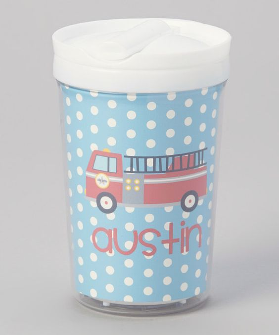 Take a look at this Fire Truck Personalized Toddler Cup on zulily today!