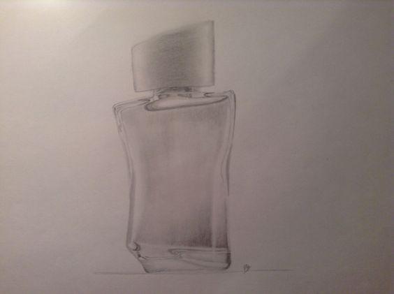 Clase #3 Ilustración de un perfume (Efecto Vidrio-Transparencia) - Nota 4/10