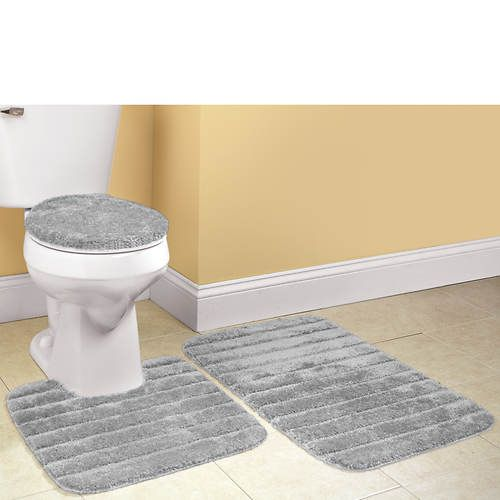 Ultra Soft 3 Piece Bath Rug Set With Images Bath Rugs Sets