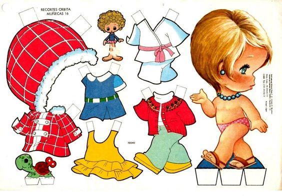 bonecas de papel | Caso queiram mais modelos de bonecas é só procurar no Google imagens ...
