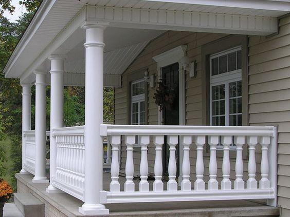 masters vinyl balustrade railing w round columns fairway. Black Bedroom Furniture Sets. Home Design Ideas