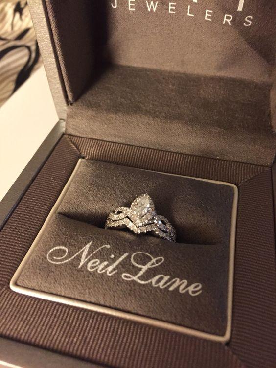 Neil lane marquise engagement ring
