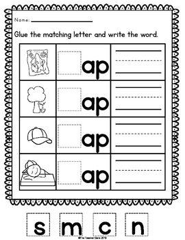 AP\' WORD FAMILY WORD WORK {FREE} - TeachersPayTeachers.com ...