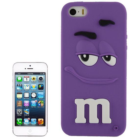 Coque Silicone M&M's pour iPhone 5/5S - Violet
