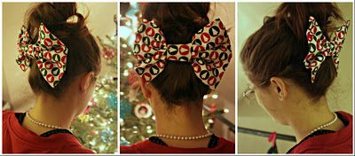 a lovely no-sew Christmas hair bow