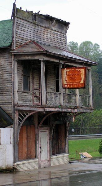 abandoned towns ohio | Abandoned ghost town Meadow Gold Ice Cream shop in Shawnee, Ohio ...