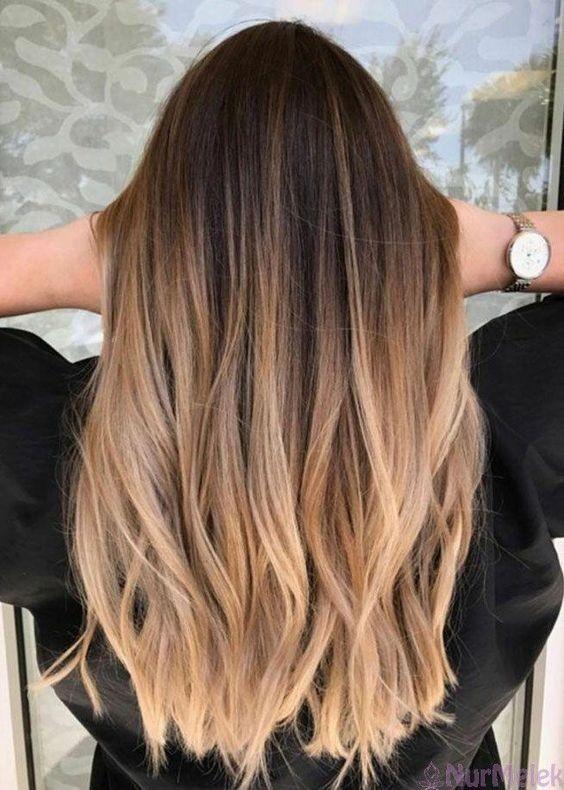 2021 Ombre Modeli Ombre Sac Rengi Sac Rengi Fikirleri Uzun Sac