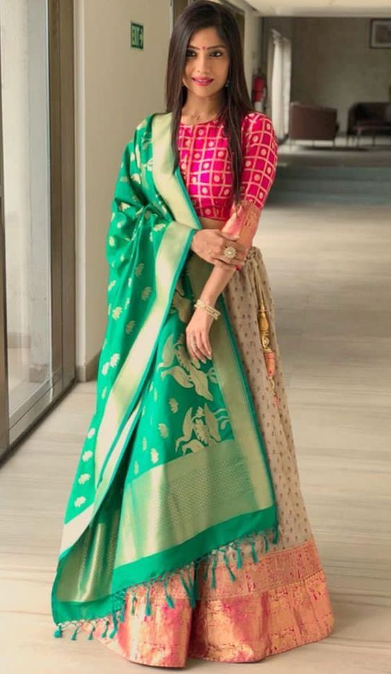 Peacock Saree With Stitched Wedding Party Wear Sari Rajasthani Blouse Indian Designer Top Choli Bollywood Ethnic For Women