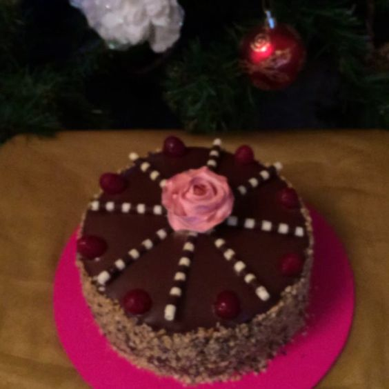 Pink flower Christmas tree decoration chocolate swirl rum cake with nuts. #pink #flower #Christmas #tree #decorations #chocolate #rum #cake #cakebake #food #foodie #foodlovers #love #London #celebration #Coptic #Orthodox #yum #yummy #fatkid #fatgirl #dessertporn #instacake #eat #hungry #music #pornfood #Sudan #Egypt #gelatocakes @remishakir @simonp98 @stephan987 @nadiadoyashaker @enchanting_jess @monika_rodriquezz @pwwinces