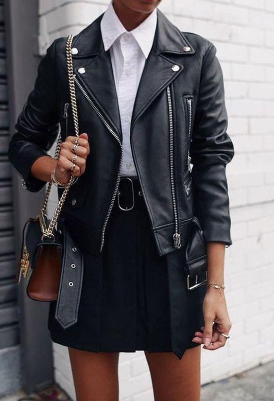 Como usar jaqueta de couro feminina: looks de inverno com a peça da vez