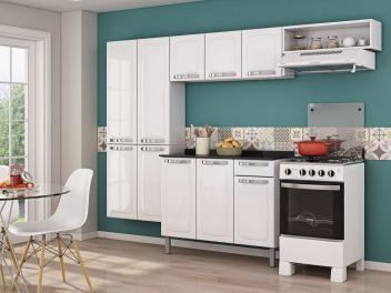Cozinha Compacta Itatiaia Rose - 7 Portas + Balcão com Tampo Itatiaia 3 Portas