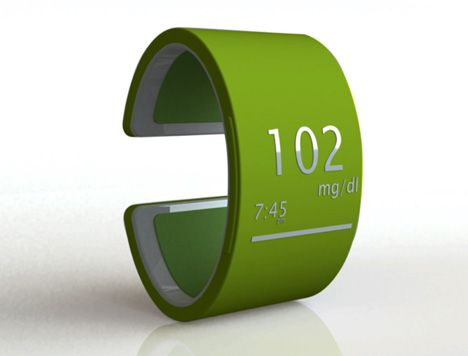 stylish high tech blood sugar monitor for the person that cannot ...