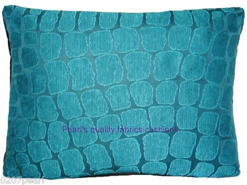Accent pillow for side chair-Home Decor Cushions Pillows Cover Designers Guild Fabric Silk Nabucco Turquoise | eBay $20.94
