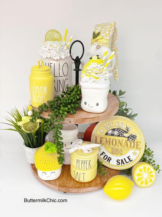 Lemon Faux Whip Cream Mug Topper Lemonade Display Food 180