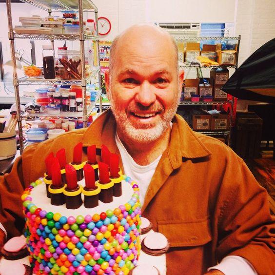 @whatsnewcupcake, Alan holding the Lipstick Cake made for TODAY Show's Bobbie Thomas.