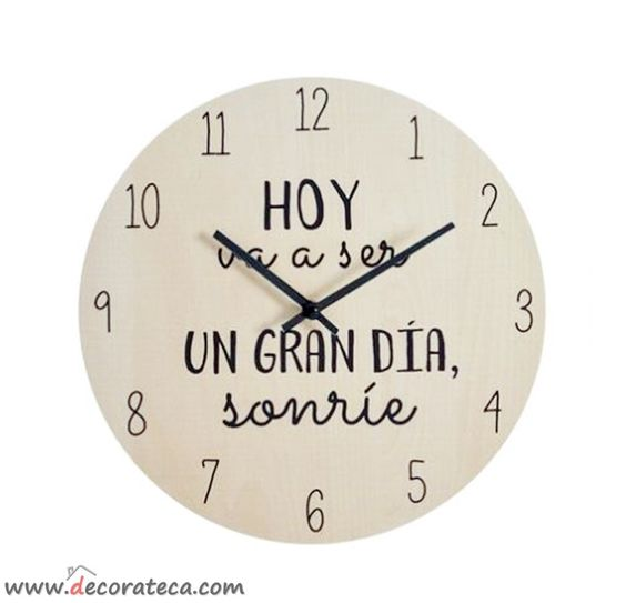 Bonito y original reloj de pared con la bonita y - Relojes de pared originales decoracion ...