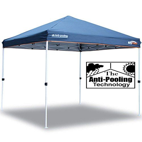 Ezyfast Patented Anti Pooling Instant Beach Canopy Shelter For Rain Or Sunshine Portable 10ft X 10ft Straight Leg Pop Up Shade Tent With Wheeled Carry Bag Shade Tent Canopy Shelter Beach Canopy
