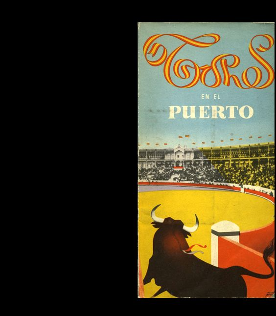 """Other bulls by Manolo Prieto.   """"Toros en El Puerto"""" (Bulls in the Port) published in 1955."""