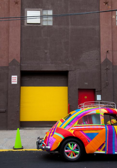 Multicoloured VW bug. Groovy!: Punch Buggy, Colorful Vw, Vdub, Vw Beetles, Vw Bugs, Slug Bug, Colorful Bug, Color Color