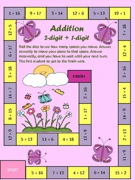 math worksheet : math games math and math centers on pinterest : 2 Digit Plus 1 Digit Addition Worksheets